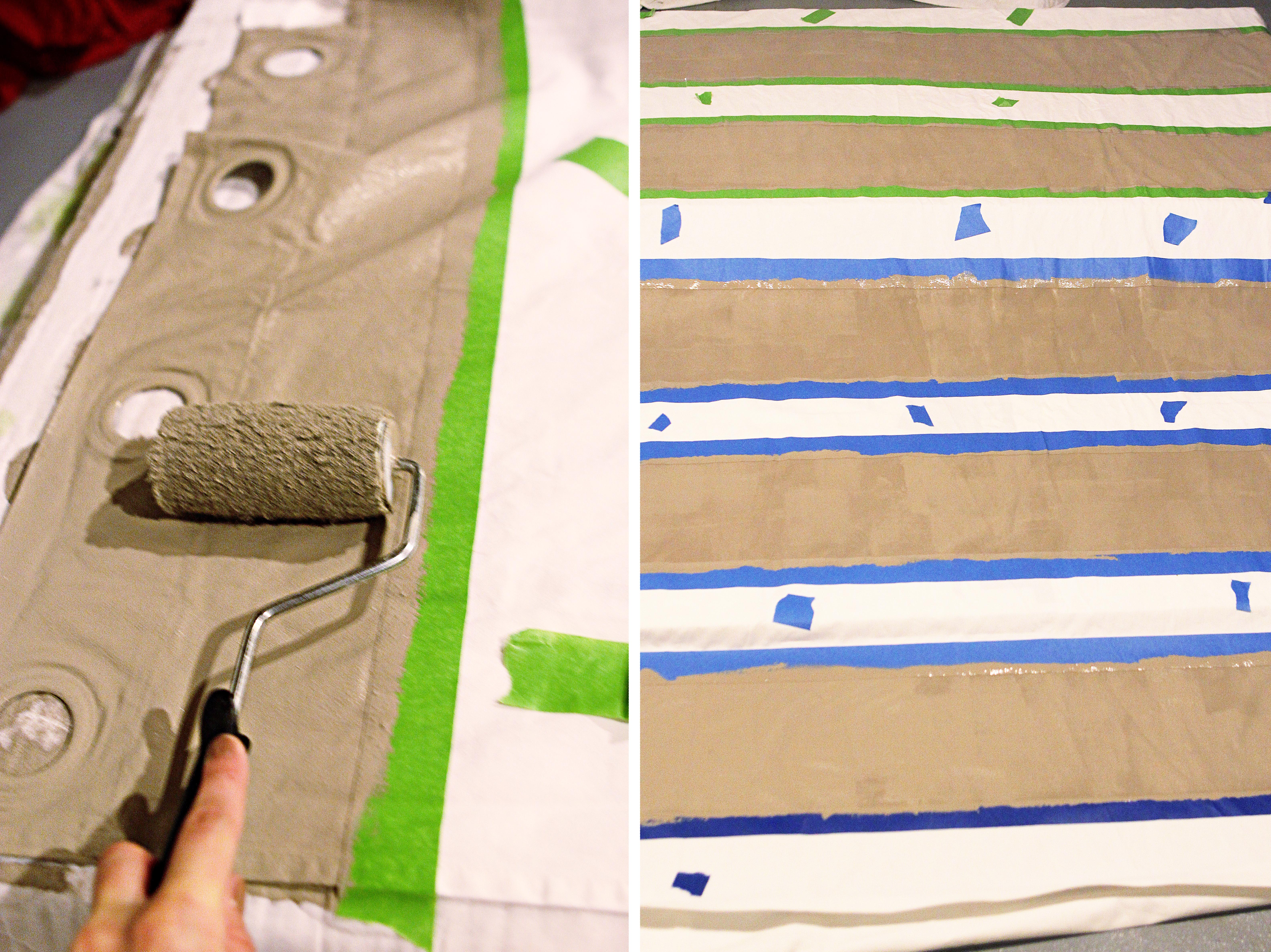 Fabric Painting Curtains Img