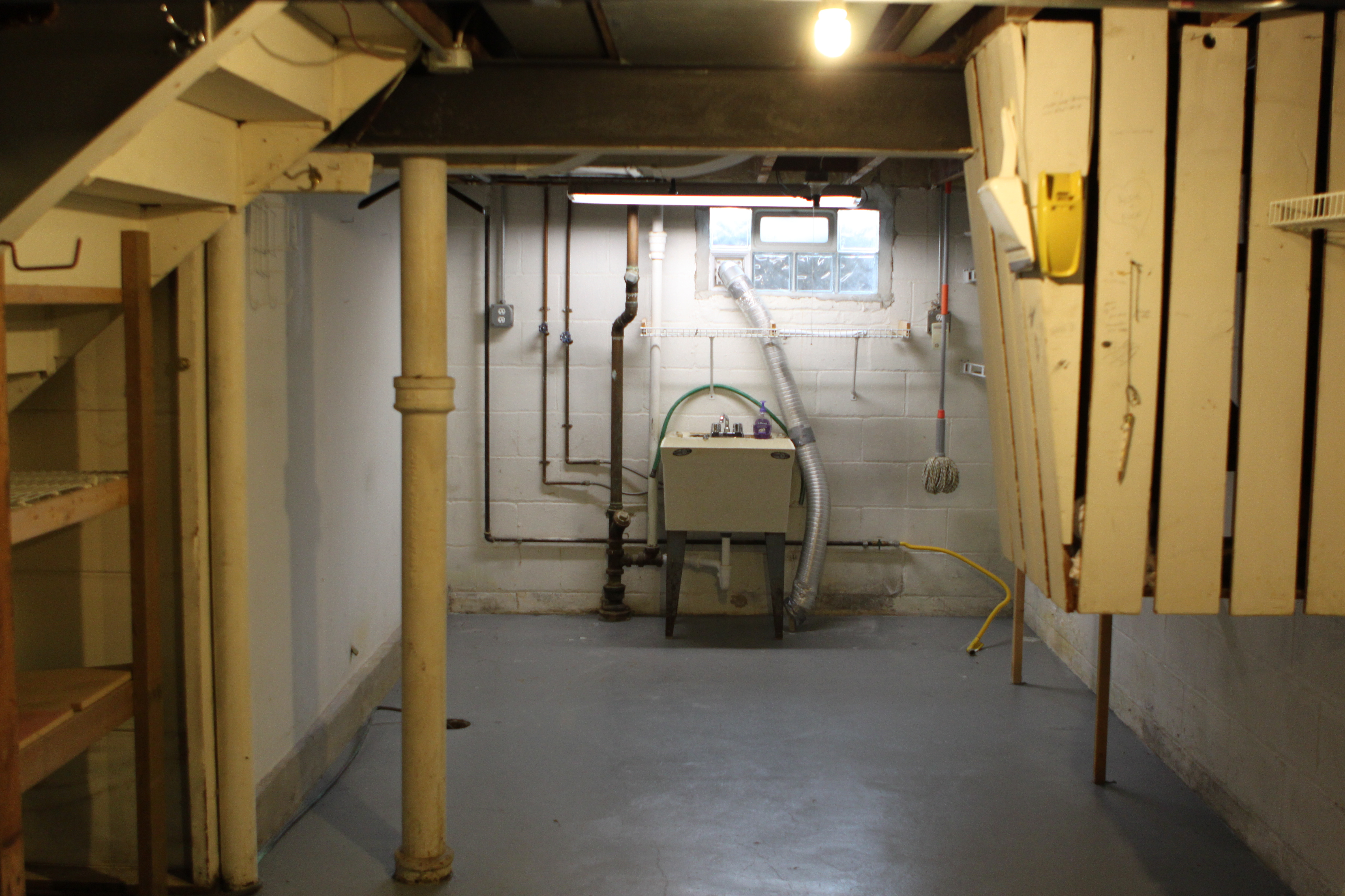 basement utility shelves plans