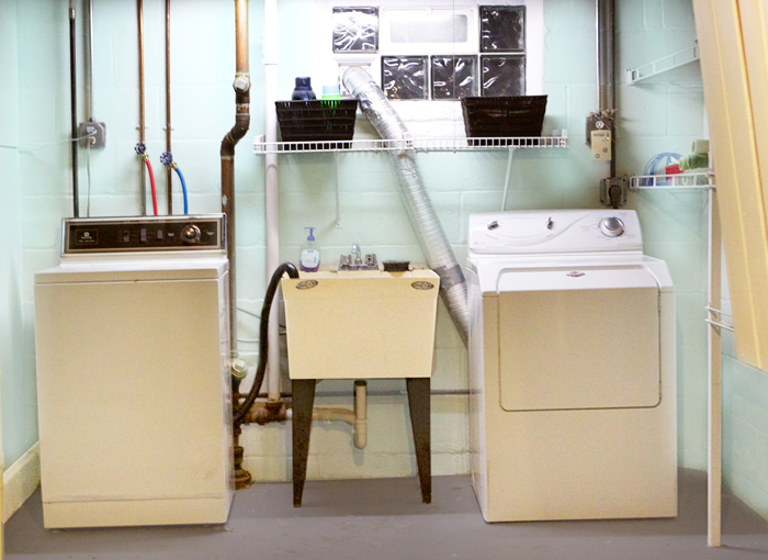 Basement Laundry Room Before And After