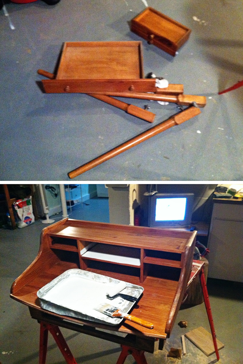 Diy Simple Writing Desk Plans Download Make Your Own